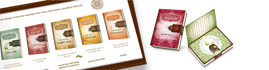 Rosens packaging design Legends tea horeca